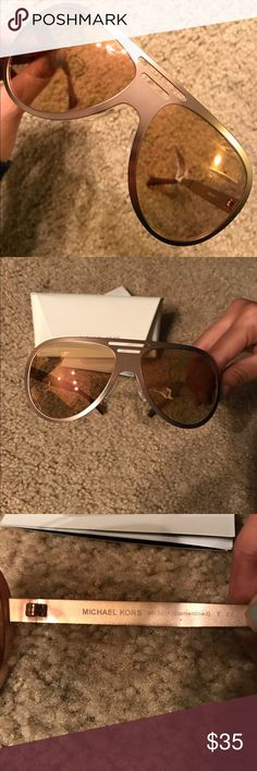 Michael Kors Sunglasses New with tag attached Authentic Michael Kors Sunglasses in 🌹 Rose Gold. Comes with case. My very last pair of Of Rose Gold Michael Kors Sunglasses. Has slight scratches but not too noticeable unless you look right up close. ❤ KORS Michael Kors Accessories Sunglasses
