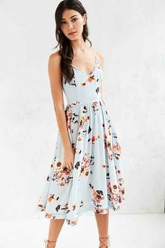Kimchi Blue Cindy Ladder Lace Midi Dress - Urban Outfitters