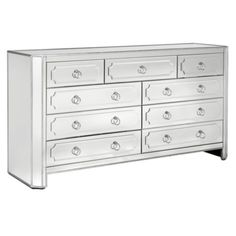 Simplicity Mirrored 9 Drawer Chest from Z Gallerie