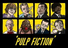Pulp Fiction cartoon.