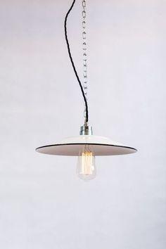 Fabriklampe 30cm Emaillelampe  Enamel von 10kg Design auf DaWanda.com