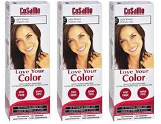 CoSaMo - Love Your Color Non-Permanent Hair Color 755 Light Brown - 3 Oz (Pack of 3)   FREE LA Cross Manicure 74858 >>> This is an Amazon Affiliate link. You can get additional details at the image link.