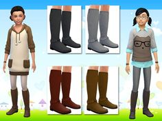 Lollaleeloo's Tall Boots for Sims Girls