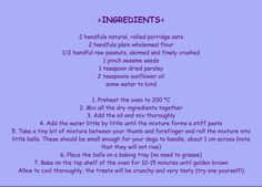 Degu treat recipe or good for a sick degu - I made this the other day and got two baking trays full and my goos love them.