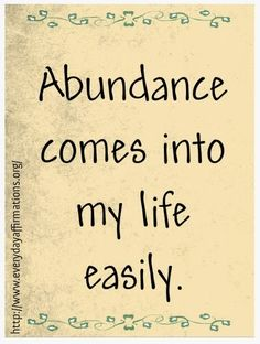 Affirmations for Money, Daily Affirmations