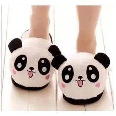 Indoor slipper for lovers Thermal slipper for Winter Cartoon plush slipper Panda face, cute panda slipper for family,1 pair