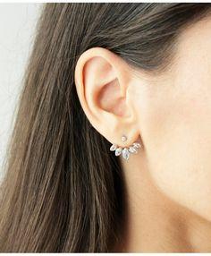 Boucle d'oreille double face argent