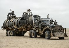 The War Rig from 'Mad Max: Fury Road' - Photos - Mad Max cars: The post-apocalyptic rides of 'Mad Max: Fury Road' - NY Daily News Mad Max Fury Road, Max Movie, Movie Cars, Zombie Vehicle, Imperator Furiosa, Offroad, Dieselpunk, Zombie Apocalypse, Nuclear Apocalypse