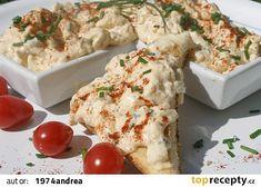 Pomazánka na způsob bavorské speciality Obatzter recept - TopRecepty.cz Pavlova, Potato Salad, Dairy, Potatoes, Cheese, Meat, Chicken, Ethnic Recipes, Food
