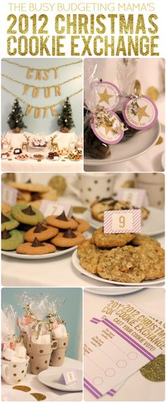 The Busy Budgeting Mama: My 2012 Christmas Cookie Exchange Party! DIY Projects and Printable Ideas... Voting Ballots and Prize Tags for Cookie Voting!