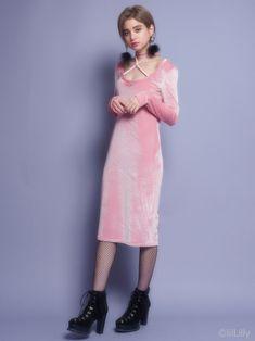 ベロアクロスチョーカードレス(ドレス)|lilLilly(リルリリー)|lilLilly|リルリリー公式通販サイト