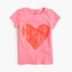 Because there's more to her third-favorite holiday than just candy. We added a giant V-Day-ready heart covered in two-sided sequins to a comfy T-shirt she'll love. What you'll love? It's machine washable. <ul><li>Cotton.</li><li>Machine wash.</li><li>Import.</li></ul>