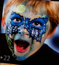 Cara pintada: murciélago