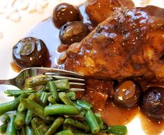 Coq au vin...so easy to throw together, then 2 hours of slow cooking later, you've got a wonderful meal