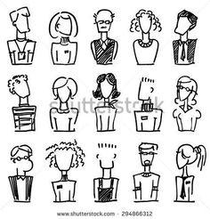 A set of doodle office avatars stock vector (royalty free .-Ein Set von Doodle-Büroavatars Stock-Vektorgrafik (Lizenzfrei) 294866312 A set of doodle office avatars - Doodle Cartoon, Cartoon Faces, Cartoon Drawings, Cartoons To Draw, Cartoon Cartoon, Easy Doodles Drawings, Cute Drawings, Doodle Sketch, Doodle Art