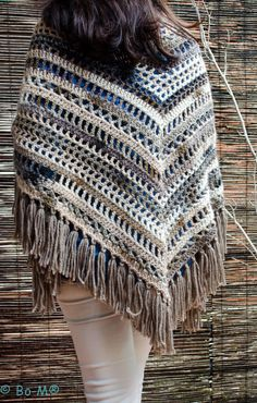 Online shopping from a great selection at Arts, Crafts & Sewing Store. Crochet Poncho Patterns, Crochet Chart, Crochet Scarves, Crochet Clothes, Knit Crochet, Poncho Shawl, Knitted Blankets, Beautiful Crochet, Knitting Designs