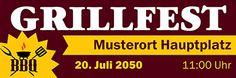 Verschiedene Grafiken für deinen Banner online erhältlich #onlinebanner #onlinewerbung #barbequegrill #grillrezepte #grillfest #essen