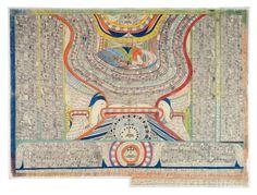 Wölfli's World: Fifty Shades of Grau — and Technicolor Visions Oriental, Musical Composition, Feeling Broken, Art Brut, Art For Art Sake, Visionary Art, Outsider Art, Heart Art, Photo Illustration