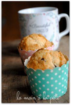 Muffins américains - La main à la pâte Croissants, Pecan, Biscuits, Cake Recipes, Sweet Tooth, Brunch, Cupcakes, Sugar, Cookies
