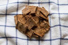 almond pulp crackers + breakfast powder bread // edible perspective