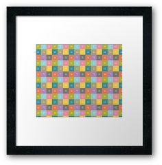 Emoji Emoticon Pattern Illustration by Gordon White | Emoji Black Framed Print Available in Small @redbubble --------------------------- #redbubble #emoji #emoticon #smiley #faces #cute #addorable #pattern #frame #print #framedprint #wallart