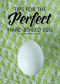Tips to the Perfect Hard Boiled Egg