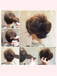 French twist hack Up do with accessory- bow