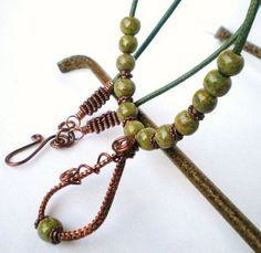 Necklace  Wire Woven Copper Pendant With by JewelryArtByDawn