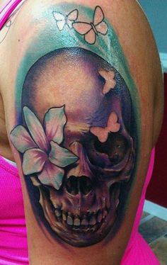 Skull Tattoo - 100 Awesome Skull Tattoo Designs  <3 <3