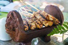 Balinese Terracotta Satay Holder