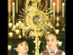 Our Lord awaits us in the Eucharist. Let our praise and glory to the Blessed Sacrament never cease. - Bl. Pope John Paul II    We adore you, Lord Jesus Christ,   here and in all your churches   throughout the world,   and we bless you,   because by your Holy Cross   you have redeemed the world.   Amen     All-powerful, all holy,   most high and ...