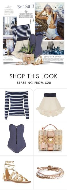 """Set Sail"" by thewondersoffashion ❤ liked on Polyvore featuring L'Agence, Johanna Ortiz, Lisa Marie Fernandez, Mark Cross, Michael Kors, Lonna & Lilly, Betsey Johnson, MichaelMichaelKors, markcross and lagence"