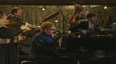 Grammys 2013: Elton John performs with Mumford and Sons at the Grammys, via YouTube.