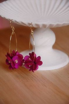 Gifts for her fashion jewelry family etsy idea. Gifts for her fashion jewelry family etsy idea. Polymer Clay Jewelry, Clay Earrings, Beaded Earrings, Earrings Handmade, Beaded Jewelry, Handmade Jewelry, Flower Earrings, Bridal Jewelry, Diamond Jewelry