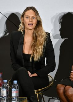 Founder - Tropic of C - Candice Swanepoel speaks onstage during - Daily Fashion Candice Swanepoel Hair, Up Hairstyles, Wedding Hairstyles, Hair Up Styles, African Models, Img Models, Hair Dos, Celebrity Style, Hair Makeup