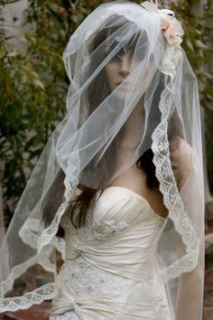 mantilla veil with blusher - Google Search
