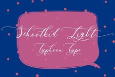 Schoolkid Light (Font) by Typhoon Type - Suthi Srisopha · Creative Fabrica Hand Lettering Fonts, Script Fonts, All Fonts, Typography, Pretty Fonts, Beautiful Fonts, Light Font, Creative Fonts, Brush Font