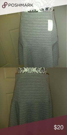 NWT JUICY COUTURE GREY STRIPES SKIRT MEDIUM Juicy Couture Grey Stripes Skirt Medium Juicy Couture Skirts Mini