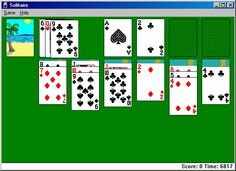 1990 solitaire on pc. The sun stuck its tongue out. I hated him.