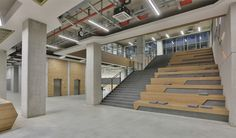 Tobb Etü Technology Center / A Architectural Design, wood concrete forum seating, stair