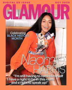 Naomie Harris Glamour Magazine Uk, Glamour Uk, Winnie Mandela, Uk Digital, Going To University, Black History Month, Covergirl, Billie Eilish, Nice Dresses