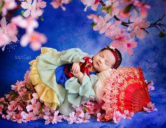 Lien Newborn Princess Dress • Mulan Style Newborn Dress • Dream Baby • Princess Baby Dress • Sitter Princess Dress • Princess Newborn Gown • by Sew Trendy