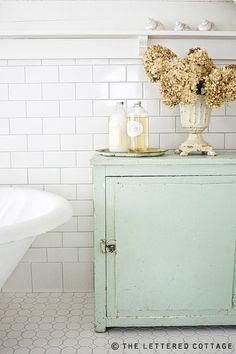 White walls, green unit