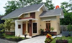 70 Examples of Simple House Models that Look Luxurious and Modern - Home Design Minimalist Kerala House Design, Small House Design, Modern House Design, Modern Minimalist House, Kerala Houses, House Windows, Build Your Dream Home, Simple House, Exterior Design
