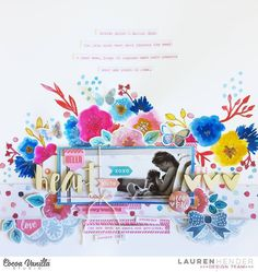 Lauren has a beautiful, arty layout to share today using our new Wild at Heart collection. She used watercolors for this page and created a custom background to coordinate with the collection. So pretty! 😍 @lauren_hender #cocoavanillastudio #cocoa_vanilla #scrapbook #layout #wildatheart #newcollection #embellishments #papercraft #memorykeeping #paperpretties #mixedmedia #watercolour