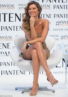 Gisele Bundchen Never Fails to Stun On the Red Carpet!: Photo Gisele Bundchen looks as stunning as ever while attending an event to promote Pantene on Tuesday (January in Sao Paulo, Brazil. Gisele Bundchen, Poses, Tom Brady And Gisele, Estilo Cool, Brazilian Supermodel, Model Body, The Hollywood Reporter, New Instagram, Down Hairstyles