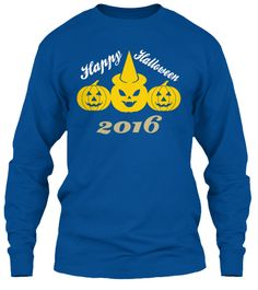 Happy Halloween 2016 Royal T-Shirt Front