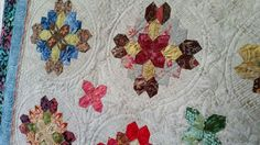 Helen's Lucy Boston closeup (1024x576) | by Persimmon Quilts  I LOVE the quilting on this!