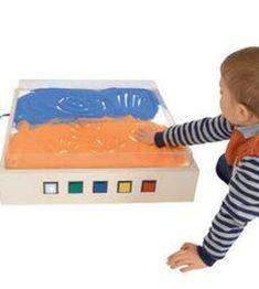 A well-made light box with large colour changing buttons and a clever acrylic insert for illuminated sand and messy play. Sand & Toys to be purchased separately. Sand Table, Sand Toys, Acrylic Table, Messy Play, Sand And Water, Sensory Toys, How To Make Light, New Toys, Light Table
