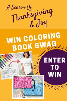 Four seasoned coloring book artist have pooled their talents for this faith-based #thanksgiving and joy event.  You can win, too.  Click for details.